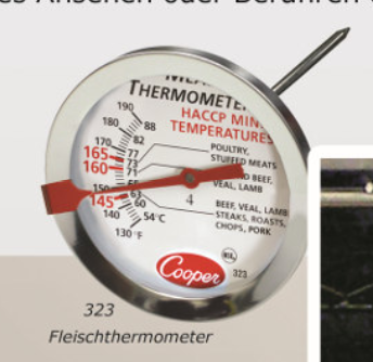 Roasting Thermometer NSF HACCP 120/200°F/°C